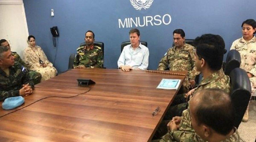 وفد السفارة الأمريكية بالرباط يزور مقر المينورسو في العيون