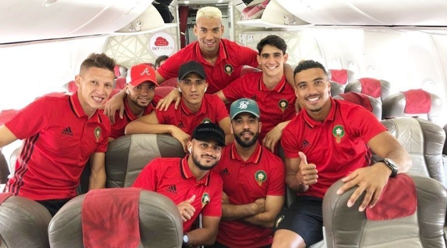 """بعثة المنتخب المغربي تشد الرحال صوب مصر للمشاركة في """"الكان"""""""