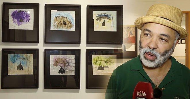 فنان يحاور الرسم والشعر في معرض بالمعهد الفرنسي بالرباط
