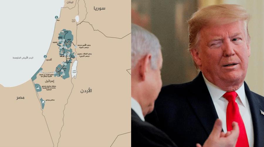 هكذا سيكون شكل فلسطين حسب صفقة القرن التي أعلنها ترامب (صورة)