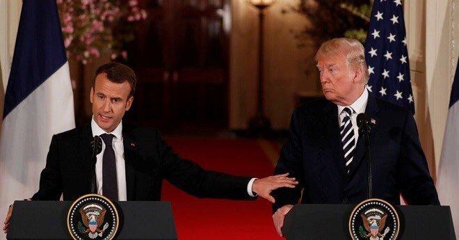 ترامب يفتح النار على ماكرون بسبب الجيش الأوروبي