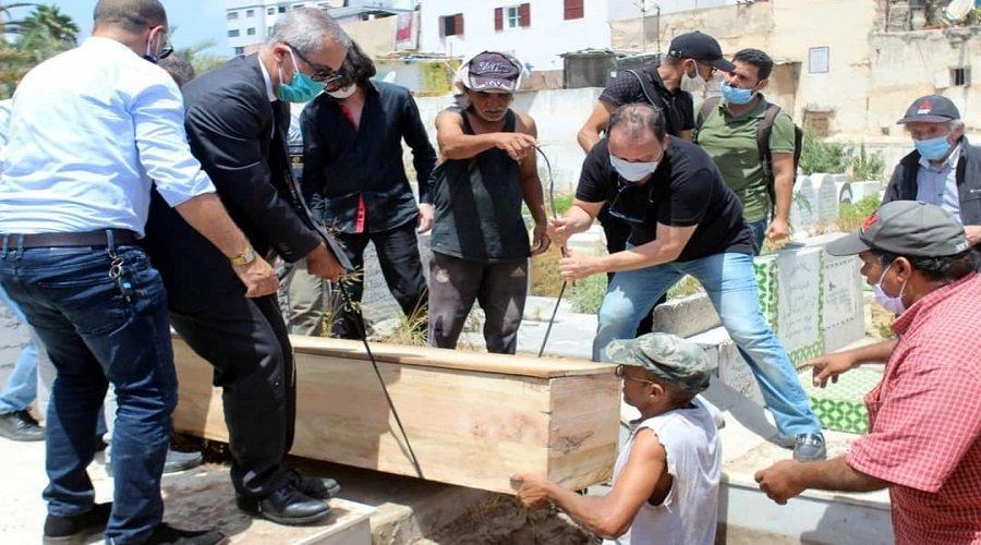 بنعبدالقادر يرافق جثمان الفقيد محمد الحلوي إلى مثواه الأخير