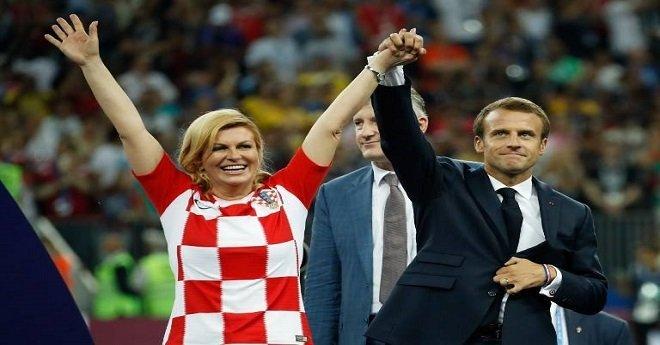 بالصور.. رئيسة كرواتيا تأسر قلوب المعجبين في نهائي كأس العالم