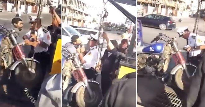 شرطي يصفع مواطنا والأخير يحاول تقبيل رجليه والحموشي يوقفه ويعرضه على المجلس التأديبي