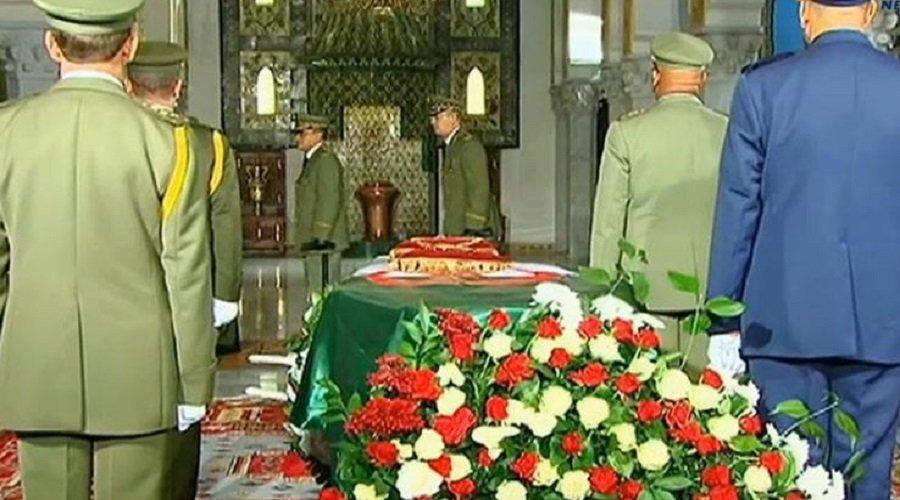 تشييع جثمان رئيس الأركان الجزائري الراحل قايد صالح