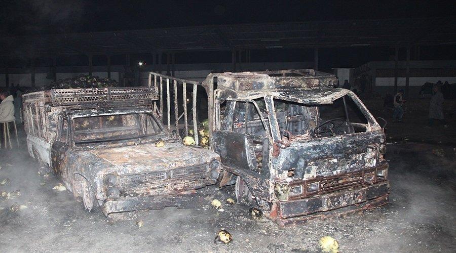 بالصور.. هذه حصيلة حريق سوق الجملة بالدار البيضاء