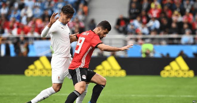 المنتخب المصري ينهزم أمام الأوروغواي