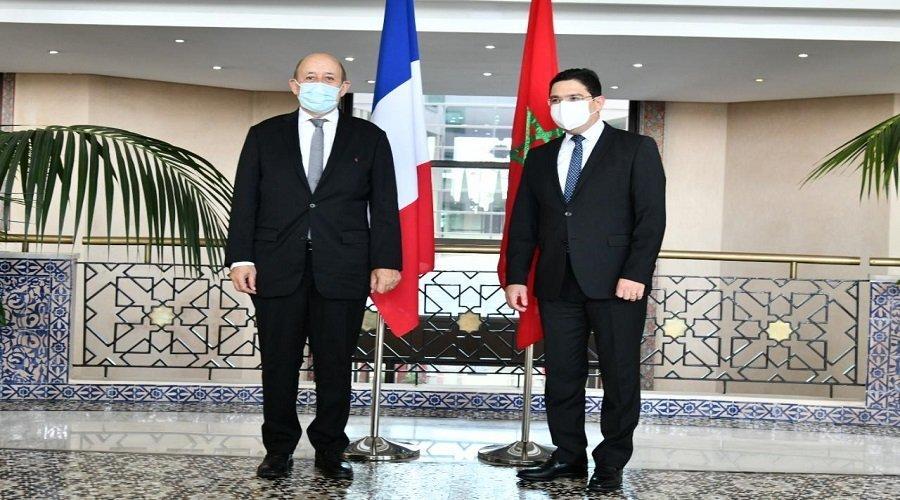 وزير الخارجية الفرنسي يشيد بجهود المغرب لحل الأزمة الليبية