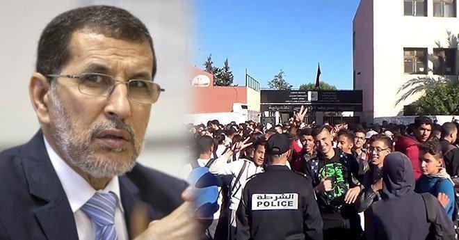 العثماني : الاحتجاجات العفوية للتلاميذ متفهمة، والأمور عادت إلى نصابها