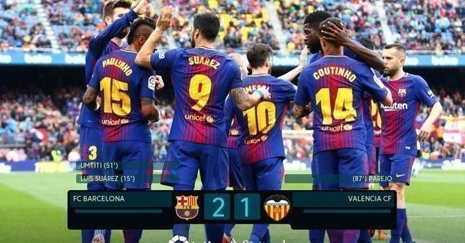 فيديو .. برشلونة يحقق فوزا صعبا على فالنسيا