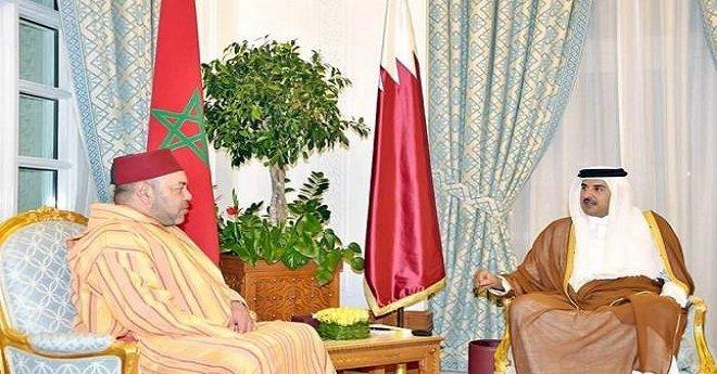 بوريطة وبوسعيد ينقلان رسالة خطية من الملك محمد السادس لأمير قطر