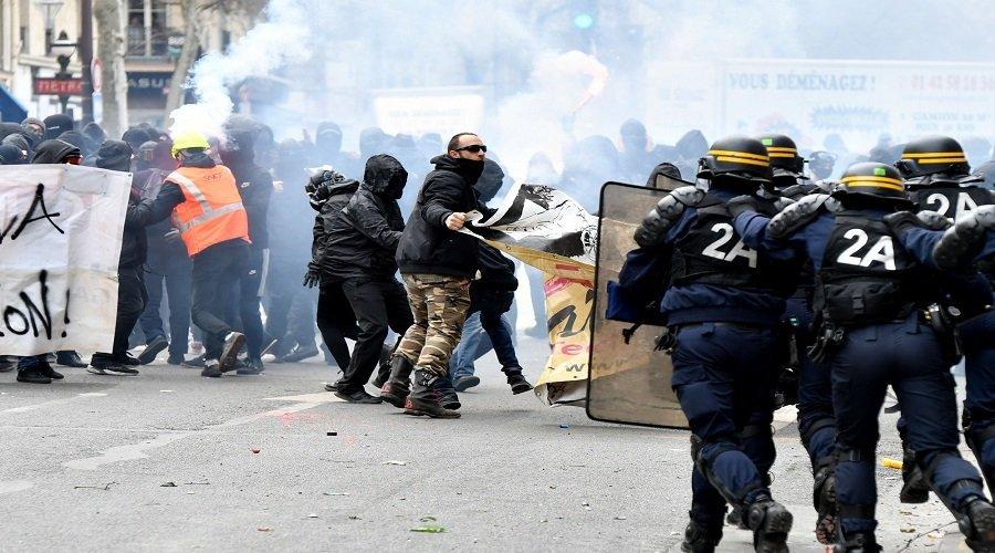أحداث عنف في فرنسا بسبب القانون الشامل