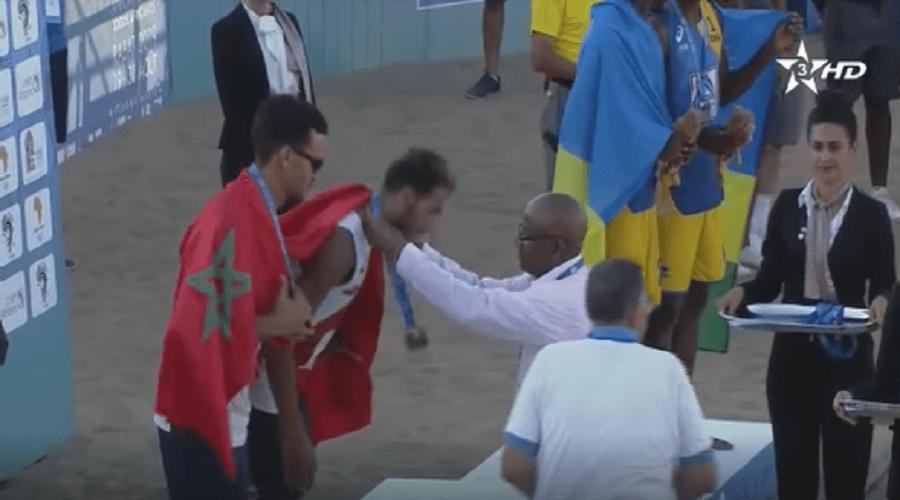 منافسات دورة الألعاب الإفريقية.. المنتخب المغربي للكرة الطائرة الشاطئية يفوز بالميدالية الفضية