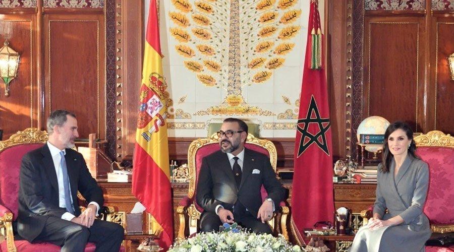 """العاهل الإسباني الملك ''ضون """" فيليبي السادس والملكة """"ضونيا"""" ليتيثيا يغادران المغرب"""