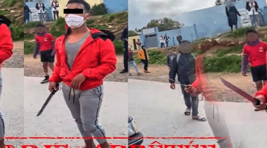 الأمن يوقف جانحا ظهر في فيديو بالجديدة يهدد تلميذة بالسلاح الأبيض