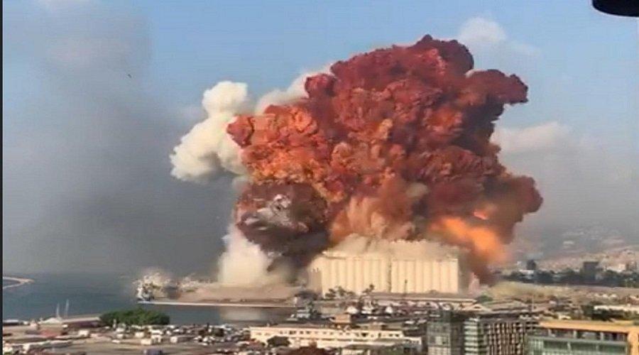 فيديو للانفجار المروع الذي هز العاصمة اللبنانية بيروت
