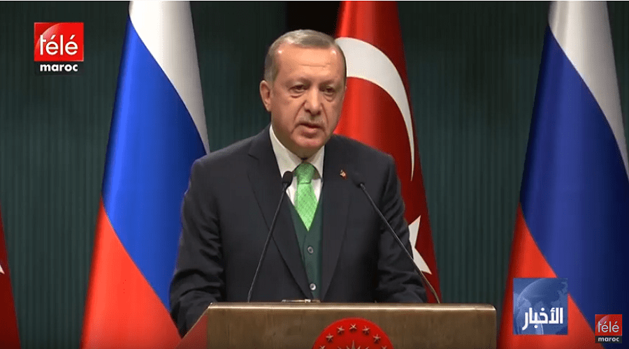 أردوغان يرفض وقف إطلاق النار بسوريا ما لم يقض على الوحدات الكردية