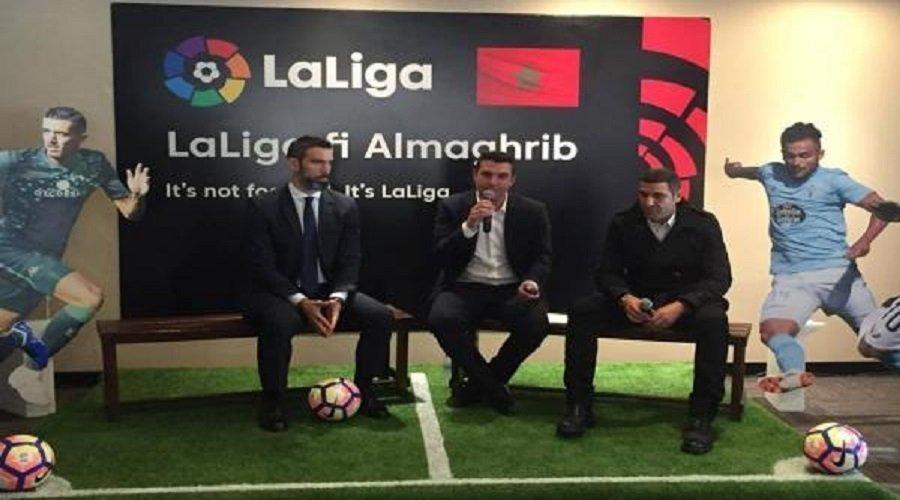 """ممثلو """"الليغا"""" الإسبانية في حملة ترويجية بالمغرب"""